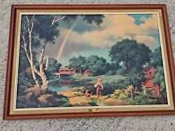 Antique Sofa Wall Art Song Of The South Uncle Remus Cabin Over The Rainbow ❤️j8