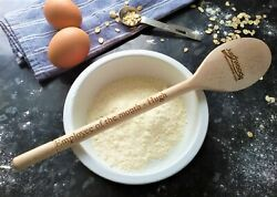 Custom Engraved Personalised Wooden Spoon - Design Your Own - Any Text Or Logo