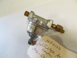1946-1952 Cadillac Restored In Line Fuel Filter Assy 3630136