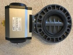 6 Pneumatic High Vacuum Butterfly Valve With Max-air Ut36t Actuator