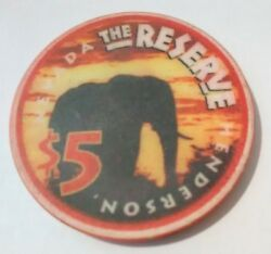 The Reserve Casino Henderson Nevada Elephant 5.00 Chip Great For Any Collection