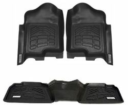 Combo Front And 2nd Row Sure-fit Floor Mats 2012-2016 Ford Super Duty Crew Cab