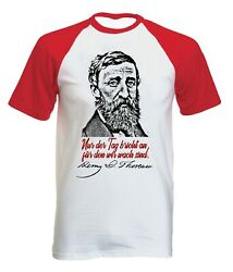 Henry David Thoreau Nur Der Tag Zitate - NEW COTTON BASEBALL TSHIRT ALL SIZES $20.86
