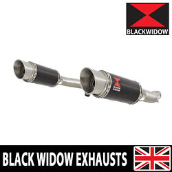 Gsx1400 K2 K3 K4 02 03 04 4-2 Exhaust Silencers End Cans Carbon+stainless 200cs