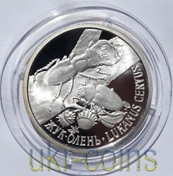 2006 Transnistria Moldova Silver Coin Stag Beetle Insect Wildlife Fauna Wwf