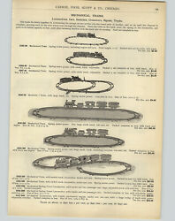 1905 Paper Ad Toy Mechanical Train Sets Spring Motor Power Foxy Grandpa Hat Toy