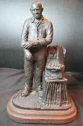 Michael Garman Sculpture Signed 1988 Almost 6 Lbs Doctor Sculpture House Call