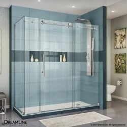 Enigma-x 34 1/2 D X 72 3/8 W X 76 In. H Fully Frameless Sliding Shower Enclosure