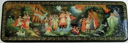 High Quality Palekh Handpainted Lacquer Box Snow-maiden Large