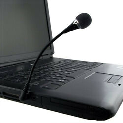3.5mm Flexible Mini Microphone MIC for PC Laptop Notebook Computer Skype $6.92