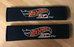 Embroidered Hot Wheels 50th Anniversary Camaro Style Seat Belt Shoulder Pad Set