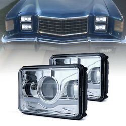 x2 35W 4X6 Rectangle CREE LED Headlight High Low Beam Sealed Replacement Lamp