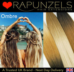 18 Ombre Balayage Root Fade Clip In Hair Weave Diy Clip Set Ombre Coloured Remy