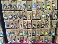 Lot Popular cartoon anime Double sided Rubber Key rings Key Chain kids toy gifts