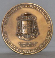 Catholic The American Cardinals Dinner Medallion Of April 27 2007 Free Shipping