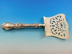 Violet By Wallace Sterling Silver Asparagus Server Hooded Old Pierced 10