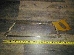 Vtg Disston U.s.a. Chef Saw For Meat And Poultry Kitchen Hunting Handsaw 20 Blade