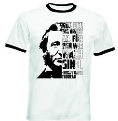 Henry David Thoreau Nur Der Tag - BLACK RINGER COTTON TSHIRT