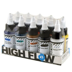 Golden Artist High Flow Acrylic Assorted 10 Color Set For Airbrush Staining