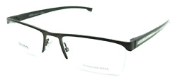 New Hugo Boss Reading Glasses 0878 QUS Semi-Rimless Matte Black
