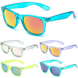 Retro Rewind Translucent Crystal Sunglasses Vintage Fashion Men Women Glasses $9.99