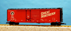 Usa Trains G Scale 50 Ft Double Plug/steel Box Car R19305c Great Northern - Red