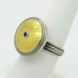 Gurhan Hand Made Sterling Silver And Gold Vintage Ring