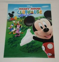 Mickey Mouse Clubhouse Cast Voices Signed Autographed 11x14 Photo Bas Loa Coa A