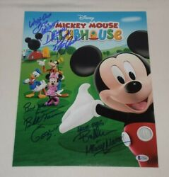 Mickey Mouse Clubhouse Cast Voices Signed Autographed 11x14 Photo Bas Loa Coa B