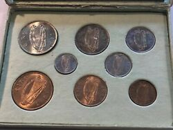 Very Rare Uncirculated Irish Free State Coin Set I941-1945 - Check Out Toning
