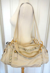 Marc Jacobs Bisque Debbie Sweet Punk Chipped Studs TotePurse~ONE OF A KIND~NWT~