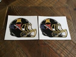 Steelers Fantasy Helmet Stickers/decals 4x6 Inches Lot Of 2 Nice