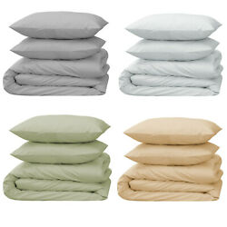 HOTEL QUALITY Ultra Soft Organic Cotton Duvet Cover Set For Comforter Queen King