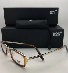 New Folding Reading MONTBLANC Eyeglasses MB 682 052 Tortoise & Gold HALF Frames