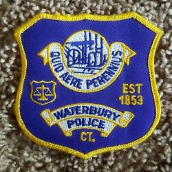 Waterbury Police Department State Of Connecticut Vintage Embroidered Patch