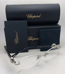 New CHOPARD Readers Eyeglasses HAPPY DIAMONDS Frame A36S Silver w/Reading Lenses