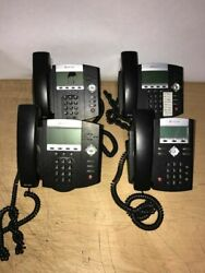Polycom Lot Of 4 Ip 450 And 1 Ip350 Sip Voip Business Phone W/headsets