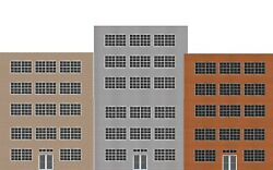 Background Flat Front Industrial Buildings For O Scale Model Train Layout