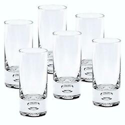 D Handcrafted 'galaxy' Lead Free Crystal 6-pc Shot Glasses Set 2.5 Oz