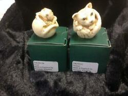 Harmony Kingdom Cdn Hardbody Set Lot Of 2 Roly Poly Fred And Homer Cat Mouse