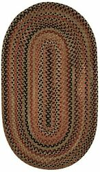 Capel Rugs Manchester Wool Country Casual Braided Area Rug Chestnut Brown 700