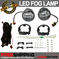 Fit Ford Front Led Fog Lamp Foglight Pair Lh Rh Clear Lens W/ Wire Harness