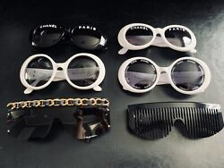 VERY RARE Vintage Chanel Sunglasses Lot 01455 01947 01948 01949 04171