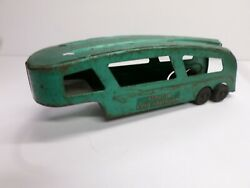 Vintage Structo Auto Haulaway Toy Car Carrier Trailer