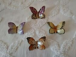 Herend Butterfly Lot Of 4 Made In Hungry