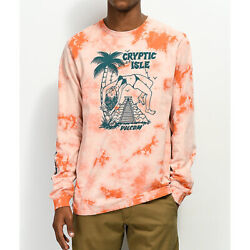 Volcom Tomb Skateboard Long Sleeve T-shirt Tee Orange Nwt Street Surf Snow Punk