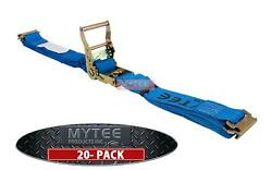 20 Pack 20and039 E Track Ratchet Straps Trailer Van Truck Strap Tie Down Cargo