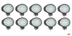 10 Pcs Powerful 65w Led 6.3and039and039 Oval Led Work Lights 12-24v Lamp Lorry Trailer Cab