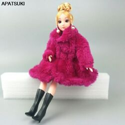 Fuchsia Fashion Doll Clothes For 1 6 Doll Coat Winter Wear Dress For 11.5quot; Doll $3.59