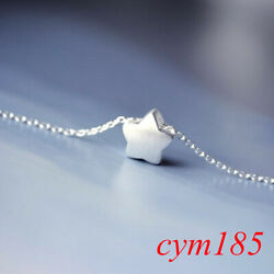 925 Silver Lovely Little Star Pendant Charm Chain Necklace Women Jewelry